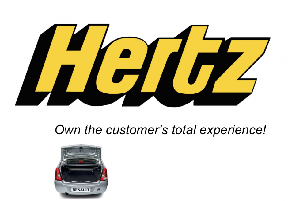 Hertz used to be a text book example of great customer service..
